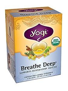 Yogi Breathe Deep Tea, 16 Tea Bags (Pack of 6)