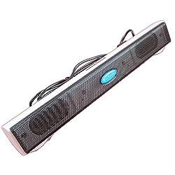 Enem Portable USB Sound Bar Speaker Dock For Laptop PC Computer system-White