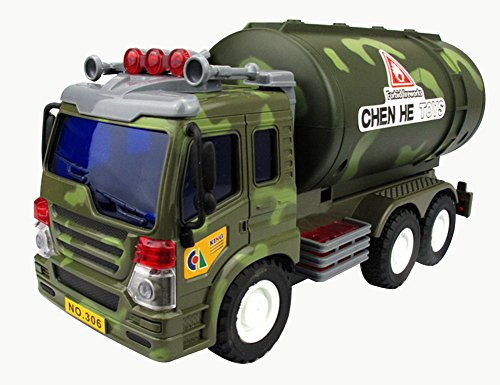 Lanshowed Camo Oil Tank Truck Friction Powered Military Vehicle Toy for Kids (Diesel Fuel Tanker compare prices)