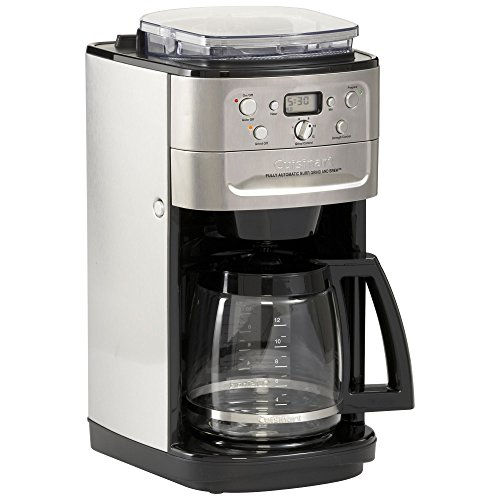 Cuisinart Grind And Brew Coffee Maker Dgb 700bc : Cuisinart DGB-700BC Grind-and-Brew 12-Cup Automatic Coffeemaker, Brushed Chrome/Black