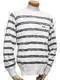 ブラック&ホワイト / ブラック アンド ホワイト/Black&White/丸首セーター(メンズ) (L, 10/ホワイト)