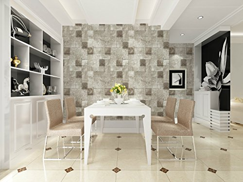 69152 vinyl faux stone brick design wallpaper for home bar for Wallpaper home hardware