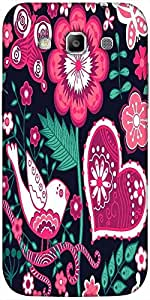 Snoogg seamless texture with flowers Hard Back Case Cover Shield For Samsung Galaxy Grand Quattro Win I8550