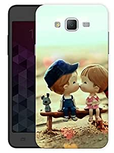 """Humor Gang Cute Couple Kissing Cartoon Printed Designer Mobile Back Cover For """"Samsung Galaxy J5"""" (3D, Matte, Premium Quality Snap On Case)"""