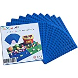 "Brick Building Base Plates Small 5""X5"" Baseplates (10 Pack Blue) Tight Fit With Lego"