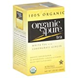 Organic & Pure White Tea with Lemongrass Ginger, 18-count - Pack of 6