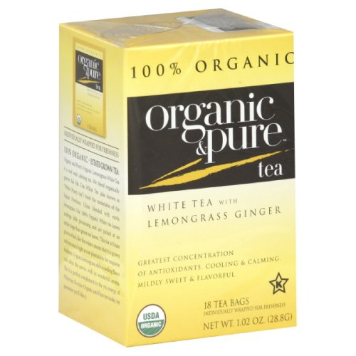 Organic & Pure White Tea with Lemongrass Ginger, 18-count