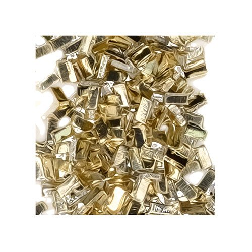 "Yellow Silver Solder Ultra Tiny Precut Pieces 0.5mm X 1mm X .25mm ""Easy"" Density Chip (Qty=1500)"