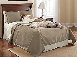 Orvis Reversible Dog-proof Coverlet And Matching Shams / Only Queen Coverlet, Bark