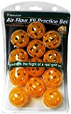 Jef World of Golf Gifts and Gallery, Inc. Airflow XP Practice Balls - Set of 12 (Orange)