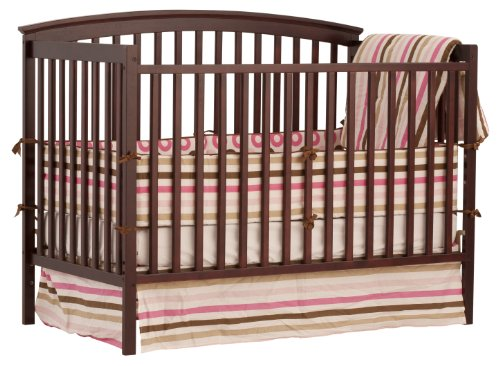 Stork Craft Bradford Fixed Side Convertible Crib, Cherry