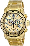 Invicta Men's 80070 Pro Diver Analog Display Swiss Quartz Gold Watch