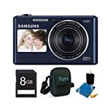 Samsung DV150F Dual-View 16.2 MP Smart Camera with Built-in Wi-Fi - Black Deluxe Bundle With 8 GB Memory Card, Card Reader, Deluxe Carrying Case, Mini Tripod, Lens Cleaning Kit.