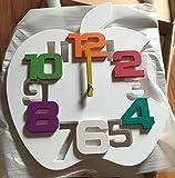 (ヴィルヌーヴ) villeneuve 3D ウォール クロック 壁掛け 時計 りんご型 (ホワイト)