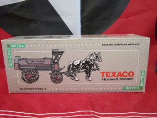 Texaco ERTL Die Cast Horse & Tanker Locking Coin Bank Collector's Series #8