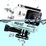 MUSON(ムソン) [メーカー直販/1年保証付] アクションカメラ 1080PフルHD高画質 30m防水 スポーツカメラ Wi-Fi搭載 ウェアラブルカメラ 防犯カメラ ドライブレコーダーとしても利用可能 C1 ホワイト