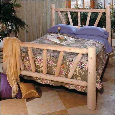 King Cedar Log Bed