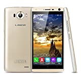 Landvo V11 - 3G Smartphone Libre Android 5.1 (5.0'' QHD, Dual Sim, Quad Core 1.3Ghz, 4Gb, 1Gb Ram, Camara 5Mp, Smart Wake, GPS WIFI Bluetooth) (Dorado)