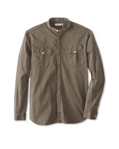 Pierre Balmain Men's Mandarin Collar Shirt