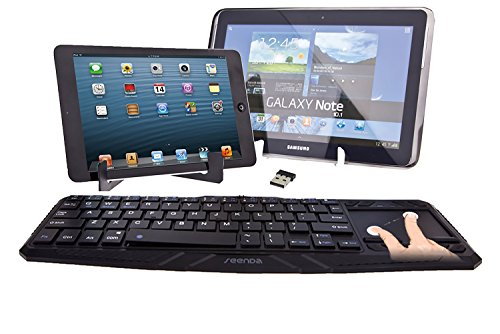 Aerb 2.4G Ultra-Slim Wireless Touch Keyboard With Built-In Mouse Touchpad