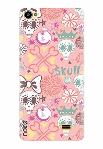 Noise Pink Skull Printed Cover for Intex Aqua Star 2 Hd