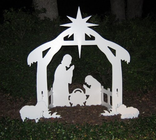 Teak Isle Christmas Plastic Outdoor Nativity Sets