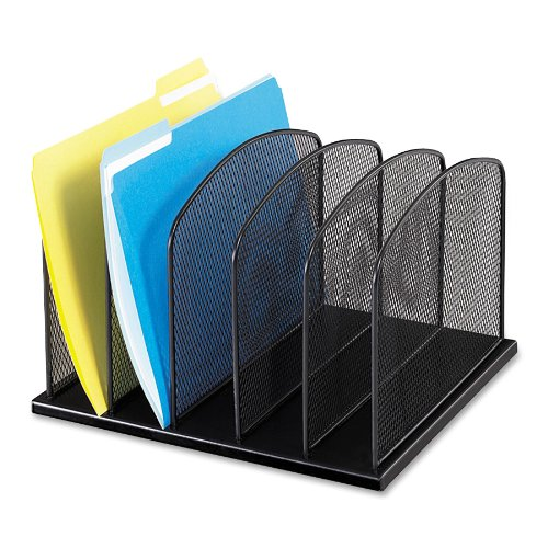 Safco Products Onyx 5 Upright Sections, Black (3256BL)