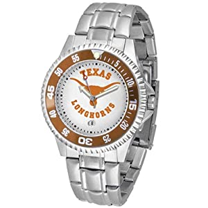 Texas Longhorns NCAA Competitor Mens Watch (Metal Band) by SunTime