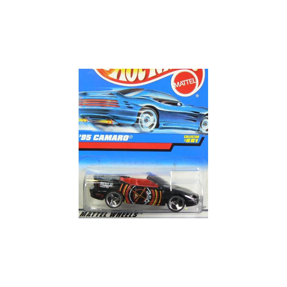 Hot Wheels Black Buckle Up and Hold On 360 95 Camaro Collector #881