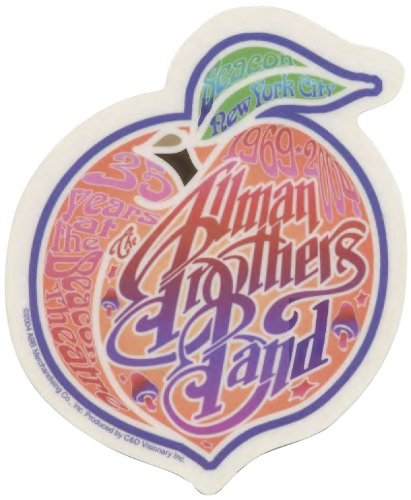 Licenses Products Allman Brothers NY Peach Sticker
