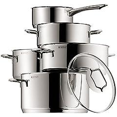 WMF Topfset Astoria 5-tlg, 4 Töpfe + 1 Stielkasserole