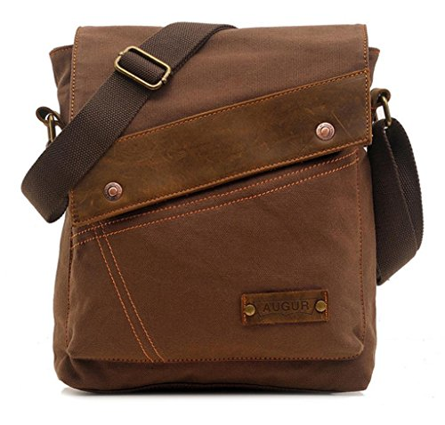 Magictodoor-Small-Vintage-Canvas-Messenger-Bag-Ipad-Shoulder-Bag-Travel-Portfolio-Bag