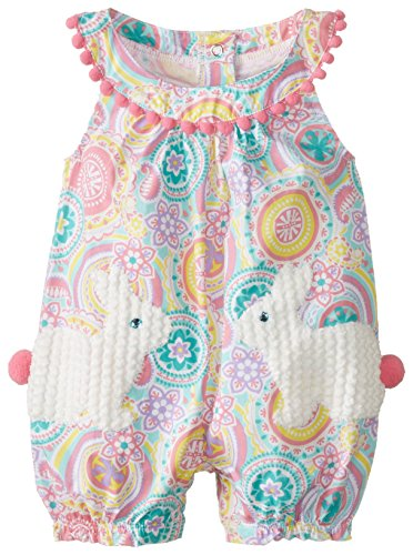 Mud Pie Baby-Girls Newborn Bunny Pocket Romper