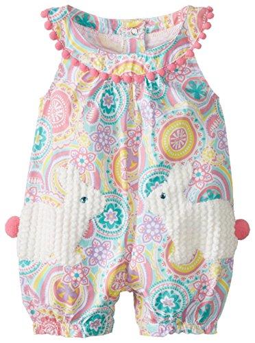 Mud Pie Baby-Girls Newborn Bunny Pocket Romper