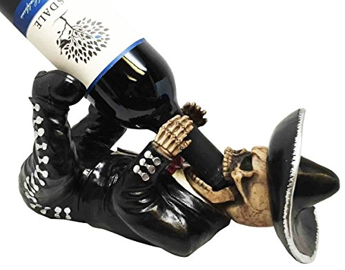 Dias de los Muertos Mariachi Skeleton Wine Holder