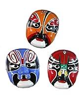 Set of 3 Operal Masks for Halloween Masquerade Masks 16*22CM,Random Color