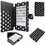 Semoss Polka Dots Smart Leather Case Cover with Auto Sleep and Wake Function for Kindle Paperwhite 2012 Version Black and White