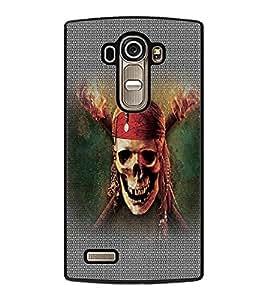 PrintDhaba Pirate Skull D-5015 Back Case Cover for LG G4 (Multi-Coloured)