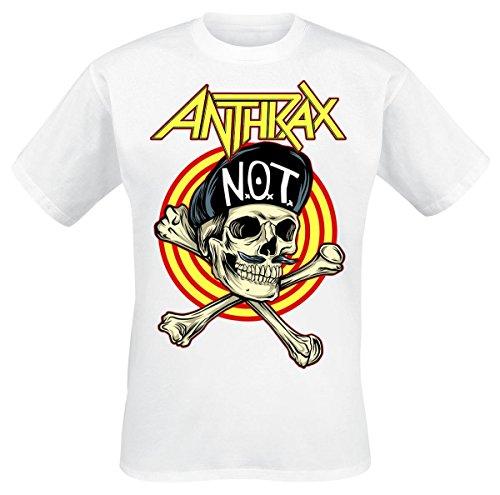 Anthrax Not Man Skull T-Shirt bianco XL