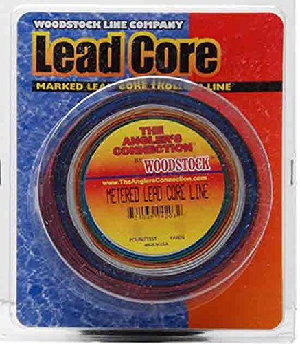 Woodstock 18 pounds metered lead core fishing line by for Lead core fishing line