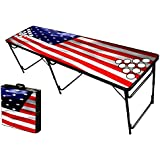 8-Foot Professional Beer Pong Table w/ Holes - Over 30 Graphics to Choose From