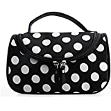 Micom Waterproof Polka Dot Two Zippers Cosmetic Bag Case Organizer Makeup Brush Bag