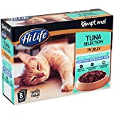 HiLife Tempt Me! Cat Food Tuna Selection in Jelly '32 x 85g Pouches' Pack of 4