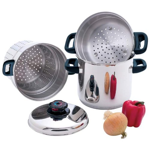 4 PC STAINLESS MULTI COOKER