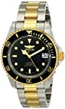 Invicta Pro Diver Analog Display Japanese Automatic Two Tone Watch Men's Mechanical Watch with Black Dial Analogue Display and Multicolour Stainless Steel Bracelet 8927OB