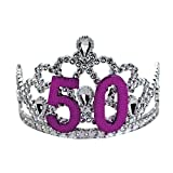 Big Mouth Toys 50th Birthday Silver Tiara