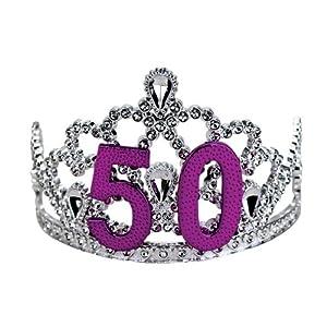 Big Mouth Toys 50th Birthday Silver Tiara