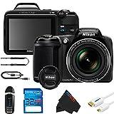 Nikon COOLPIX L340 Digital Camera (Black) +32GB Pixi-Basic Accessory Bundle