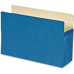 Smead 74235 Blue Colored File Pockets - Legal - 8.50\