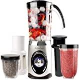 Andrew James Multifunctional 4 in 1 Smoothie Maker, Blender, Grinder, Juicer